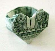 Image result for Dollar Bill Origami Heart Step by Step | Dollar ... | 179x194