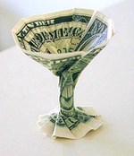 Origami Martini glass by Stephen Hecht on giladorigami.com