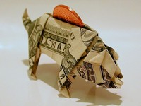 Origami Piggy bank by John Montroll on giladorigami.com