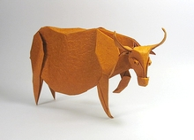 Origami Water buffalo by Nguyen Hung Cuong on giladorigami.com