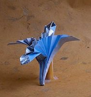 Origami Lily - art deco by J.C. Nolan on giladorigami.com