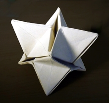 Origami Stellated octahedron by Patricia Crawford on giladorigami.com