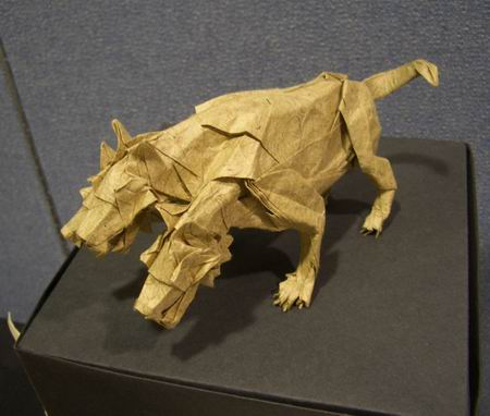 Crease Pattern Origami Cerberus By Satoshi Kamiya On Giladorigami