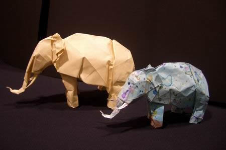 Origami Asian elephant by John Szinger on giladorigami.com