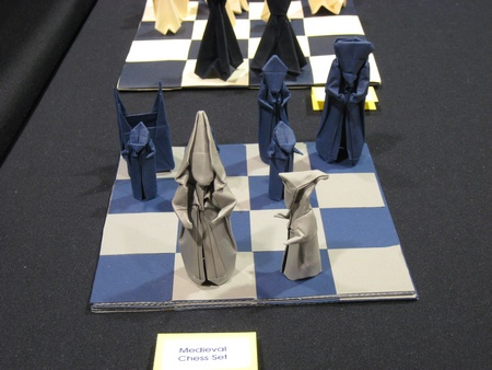 Origami Chess set - medievel by Max Hulme on giladorigami.com