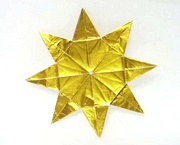 Origami Star - eight pointed by Peter Engel on giladorigami.com