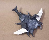 Origami Samurai-helmet beetle - flying by Jun Maekawa on giladorigami.com