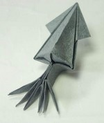 Origami Squid by Jun Maekawa on giladorigami.com