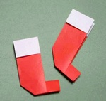 Origami Stocking by John Montroll on giladorigami.com