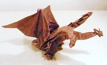 Origami King Ghidora by Kozasa Keiichi on giladorigami.com