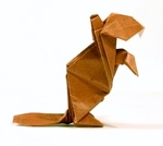 Origami Beaver by John Montroll on giladorigami.com
