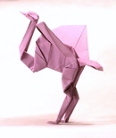 Origami Heron by John Montroll on giladorigami.com