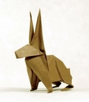 Origami Jack rabbit by John Montroll on giladorigami.com