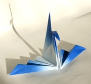 Origami Crane folding wings by Traditional on giladorigami.com