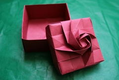 Origami 12 section rose box by Shin Han-Gyo on giladorigami.com