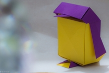 Origami Penguin box by Inayoshi Hidehisa on giladorigami.com