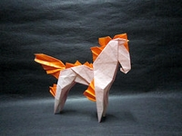 Origami Ponyta (Pokemon) by Kakami Hitoshi on giladorigami.com