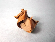 Origami Horned turban by Satoshi Kamiya on giladorigami.com