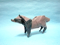 Origami Raccoon dog by Satoshi Kamiya on giladorigami.com