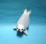 Origami Harp seal by Akhil Oswal on giladorigami.com
