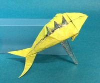 Origami Fish on fork by Alexander Poddubny on giladorigami.com
