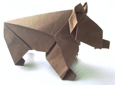 Origami Bear by Edwin Corrie on giladorigami.com