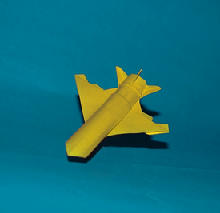Origami Fighter plane by Paulius Mielinis on giladorigami.com