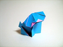 Origami Puppy by Steve Biddle on giladorigami.com
