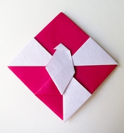 Origami Dove of peace - 2D by Kunihiko Kasahara on giladorigami.com