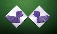 Origami Love birds - 2D by Kunihiko Kasahara on giladorigami.com