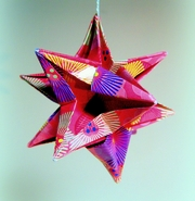 Origami 3D star by John Montroll on giladorigami.com