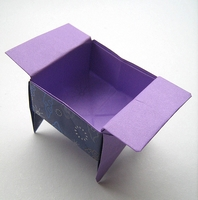 Origami Sanbo with legs by Traditional on giladorigami.com