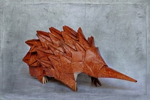 Origami Echidna - Spiny anteater by Steven Casey on giladorigami.com