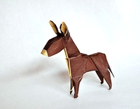 Origami Donkey by Daniel Chang on giladorigami.com