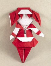 Origami Housemaid by Chen Xiao on giladorigami.com