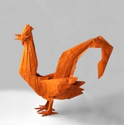 Origami Rooster by Julio Eduardo on giladorigami.com