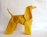 Origami Afghan hound by Seishi Kasumi on giladorigami.com
