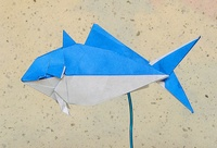 Origami Yellowtail (farmed) by Katsuta Kyouhei on giladorigami.com
