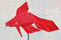 Origami Siamese fighting fish by Robert J. Lang on giladorigami.com