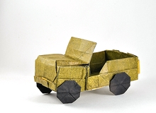 Origami Jeep - Willy N38B by Alberto Plaja on giladorigami.com