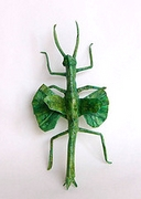 Origami Walking stick - flying by Manuel Sirgo on giladorigami.com