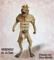 Origami Werewolf by Le Tuan on giladorigami.com