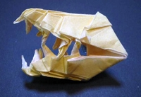 Origami Dinosaur - T-Rex 3D Head - YouTube | 137x200