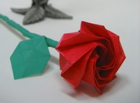 Origami Rose by Seo Won Seon (Redpaper) on giladorigami.com