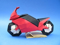 Origami Motorcycle by Ryo Aoki on giladorigami.com