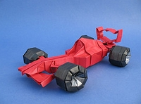 Origami Race car - Ferrari F2001 by Ryo Aoki on giladorigami.com