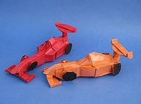 Origami Racing car by Ryo Aoki on giladorigami.com