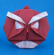 Origami Angry red bird by Xin Can (Ryan) Dong on giladorigami.com