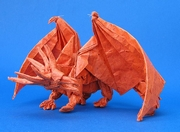 Origami Dragon - ancient by Satoshi Kamiya on giladorigami.com