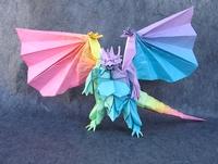Origami Bahamut Divine Dragon By Satoshi Kamiya On Giladorigami